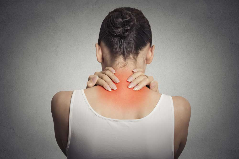 Woman suffering from fibromyalgia